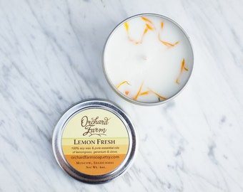 Lemon Fresh//Soy Candle//Travel Candle