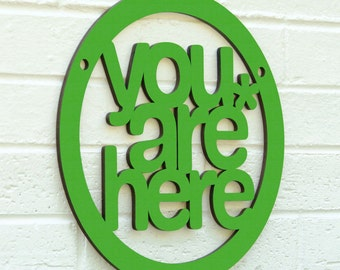You are Here MINI sign (meditate, be present, mindfulness)