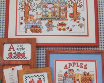 A Is For Apple Cross Stitch Pattern