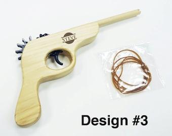 Ring Bearer Gifts, Custom Personalized Engraved Wooden Rubber Band Gun, Christmas Gift, Ring Bearer, Groomsmen, Baby Announcement, Keepsake