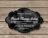 Personalized Stickers, Chalkboard like Jar labels,  cooking labels, homemade goods labels, mason jar labels, set of 10 WATERPROOF
