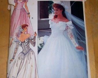 Butterick 3513 Vintage Wedding Dress Sewing Pattern