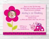Ladybug Birthday Invitati...