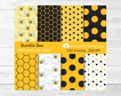 Cute Bumble Bee Digital P...