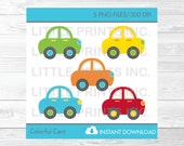Cute Car Clipart / Colorf...