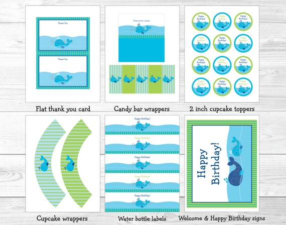 Whale Birthday Party Package Decorations Nautical