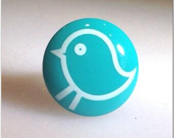 Aqua Blue Green Bird Teen Jewelry Ring