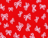 BOWS, Cotton Interlock Knit Fabric, by the yard