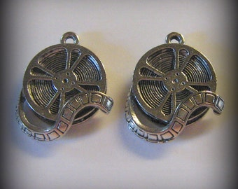 40 Silver Pewter Film Reel Charms (qb64) for Jared only