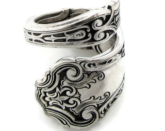 Spoon Ring Cardinal Wrapped Size 6 To 15