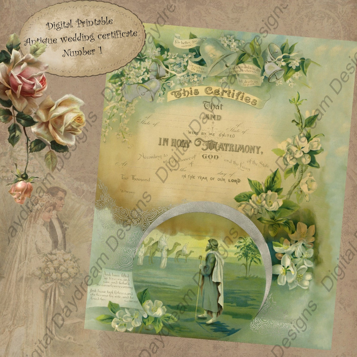 It is a picture of Universal Printable Marriage Certificate