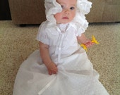 Honeycomb Smocked Infants Christening/Blessing Gown