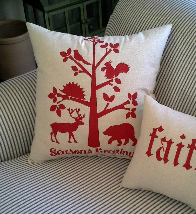 Scandinavian Christmas Pillow : Scandinavian Holiday pillow by heididevlin on Etsy