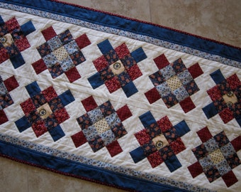 AMERICAN GLORY Vintage Look Table Runner from Quilts by Elena Wall Hanging