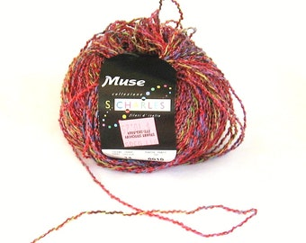 yarn, Muse 14, Stacy Charles, multicolor, boucle, C, destash