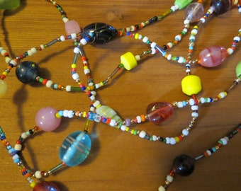 Rainbow Beadwork Necklace