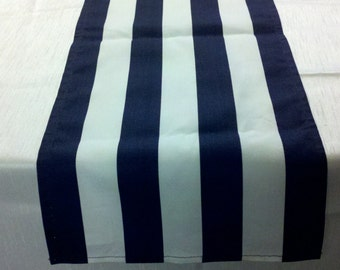 "STRIPED TABLE RUNNER Colors, 11"" wide runners,  or Napkins,  Placemats, black, red, fuchsia, grey, yellow, lime, Runners, Nautical, Beach"
