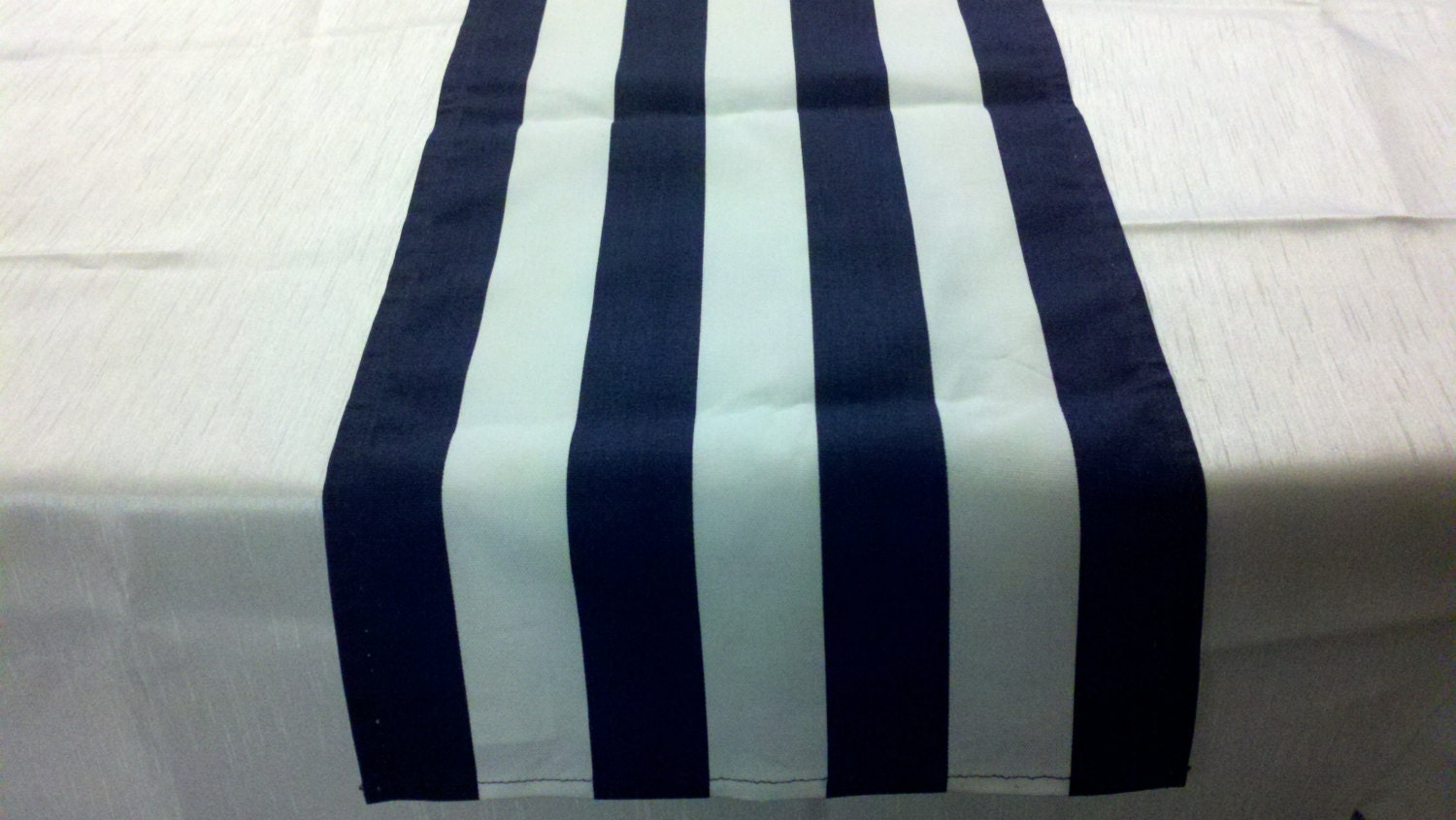 Sample Sale Runner 48l X 10w Navy Blue And White