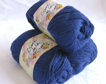 Creme de la Creme NAVY Blue Cotton Yarn,  100% cotton yarn, worsted weight