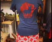 Wisconsin Deer Shirt - Next Level v-neck women's s-xxl
