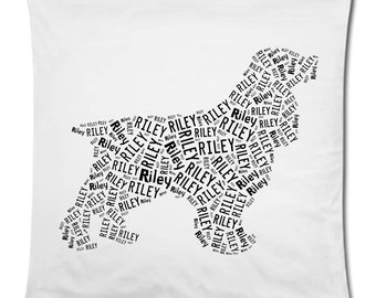 Personalized Cocker Spaniel Pillowcase Pillow Cover Dog Breed Home Decor Bed Cushion
