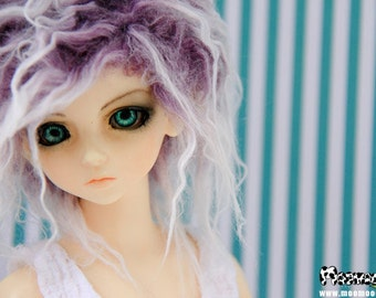 Akasarushi Color Purple Ombre Fur Wig Made for abjd doll size SD MSD tiny yosd and puki