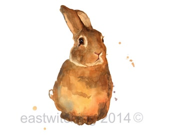 Bunny print 5x7