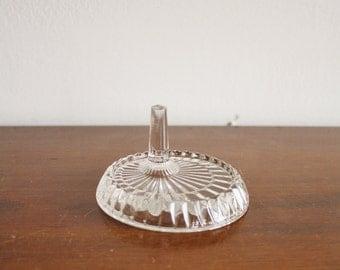 Vintage Fostoria crystal ring dish