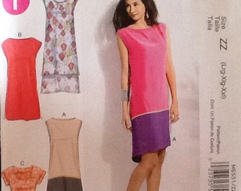 McCalls  6551 Sleeveless Dress Pattern, Uncut, Size L to XL