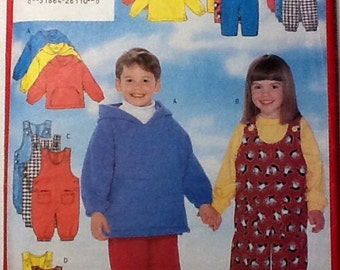 Butterick 5164 Children's Jacket and Overalls Top and Pants Pattern size 2-4, uncut