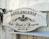 French Signs | BOULANGERIE | French Kitchen Signs | French Bakery | Paris Signs | 27 x 14