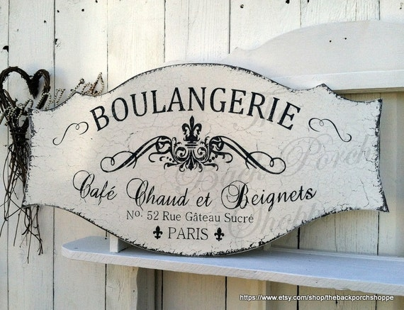 French Signs Boulangerie French Kitchen Signs French