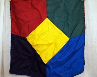 Vintage Geometric Silk Scarf Made in Germany
