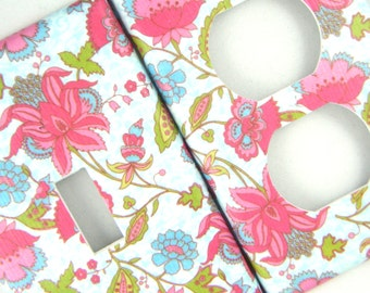 Light Switch and Outlet Cover - Pretty Floral