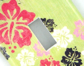 Light Switch Cover Switchplate -- Multi-Color Hibiscus