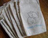 Elephant Favor Bags Birthday Party Baby Shower Treat Personalized Goody Bag - Set of 10 - Item 1574