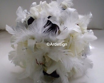 VINTAGE BLISS Wedding Bouquet With Crystals And Rhinestones Accents