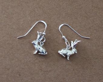 Earrings - Sterling Silver 3D JACKALOPE - Southwest