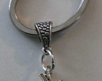 Sterling WINDMILL Key Ring, Key Chain - Power, Dutch, Holland, Farm, Amish