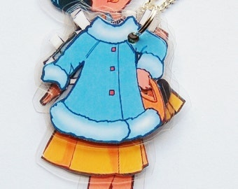 Katie Paper Doll Laminated Necklace