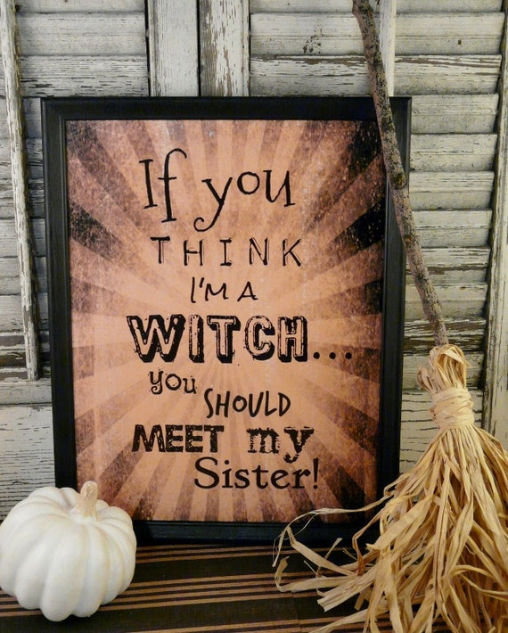 Items Similar To Halloween Witch Sister Sign Digital Pdf