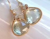 Soft Green Amethyst Earrings