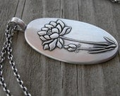 Bloom Where You're Planted Pendant PMC Artisan Jewelry Sterling Silver