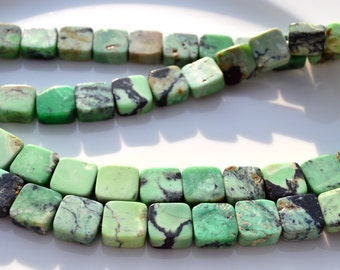 Beautiful Chrysoprase Square Beads  6