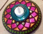 Stained Glass Mosaic Candle holder