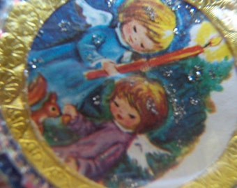 tiny angels christmas paperweight