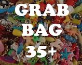 Incredible Grab Bag of charms, beads, trinkets, nic-nacs, doodads (qty 35)