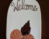 Seashell Welcome Sign