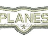 Planes Logo Applique Embroidery Design Instant download This is NOT A PATCH