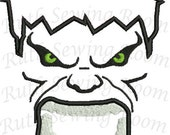 Hulk Green Man Face Applique, Avenger Applique Embroidery Design This is NOT A PATCH